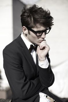 Geek chic? I think not - rather, this looks quite dashing!