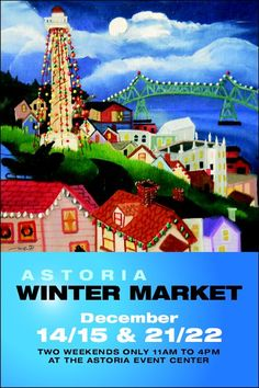 This Weekend: Astoria Winter Market Overstock Jewelry, One Day Only, Folk, Arts And Crafts, My Arts, Marketing, Winter, Artwork, Prints