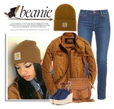 """""""Beanie"""" by conch-lady ❤ liked on Polyvore featuring M.i.h Jeans, Superdry, Carhartt, Chloé, Creative Co-op and beanie"""