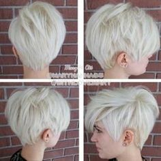 Pixie haircuts are popular now. This pixie comes with a soft style for ordinary wear. Short pixie haircut is a simple means to have a terrific haircut and beautiful and not lots of work with them. Cute Pixie Cuts, Pixie Cut Styles, Short Hair Styles, Edgy Pixie Cuts, Hairstyles Haircuts, Pretty Hairstyles, Straight Hairstyles, Hairstyle Ideas, Edgy Pixie Hairstyles