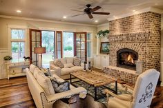 60 amazing farmhouse style living room design ideas (44)