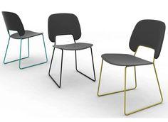 Cadeira trenó de polipropileno TRAFFIC by DOMITALIA   design Andrea Radice & Folco Orlandini design studio