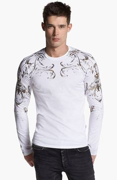 Just Cavalli Printed Long Sleeve T-Shirt available at #Nordstrom