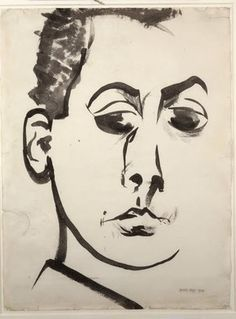 Man Ray, Self-Portrait, 1914, ink on paper.