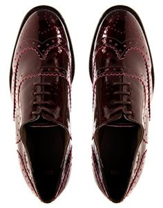 blood red patent leather brogues...