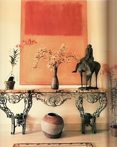Horst picture. Rothko with Louis XV console etc... ~~~The whole look makes me swoon.