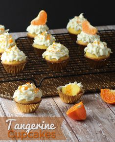 #3, Tangerine. Just use yellow cake mix and tangerines. Top with orange candy slice and tangerine zest 17; 30 min prep, 15 min icing WHITE; WHITE 4