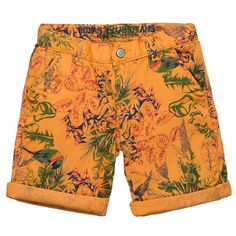 Indian Blue Jeans - Short Chino Hawaii oranje