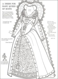 New Coloring Pages Queen Elizabeth 1 Free - Coloring Pages For Free Tudor Dress, Medieval Dress, Free Coloring Pages, Printable Coloring Pages, Royal Paper, Mary Queen Of Scots, Dress Drawing, Dress Picture, Historical Costume