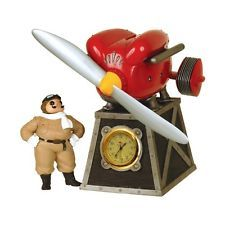 Porco Rosso / Music Box / Red pig Table clock / Japan Anime Collection Ghibli