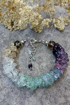 Statement fluorite bracelet Multicolor bracelet Boho chic jewelry Stone bracelet Birthstone jewelry Fluorite jewelry Statement bracelet Gift – Wish Upon a Star – Jewelry Crystal Jewelry, Wire Jewelry, Boho Jewelry, Beaded Jewelry, Jewelery, Jewelry Necklaces, Beaded Bracelets, Jewelry Shop, Cheap Jewelry