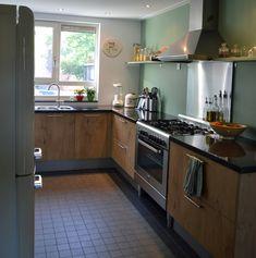 1000 images about keuken on pinterest interieur pastel kitchen and kitchens - Koelkast groen ...