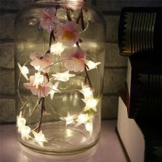 Decorate your patio, home, porch or hallway with this delightful star shaped fairy light string! Perfect decoration for parties! Made from plastic & copper wire. Comes with 20 LED lights! Length of wire measures Fairy Lights In A Jar, Jar Lights, String Lights, Light String, Fairy Light Jar, Garden Fairy Lights, Room Ideas Bedroom, Bedroom Decor, Fairytale Bedroom