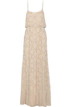 Needle & Thread Constellation embellished chiffon maxi dress   NET-A-PORTER