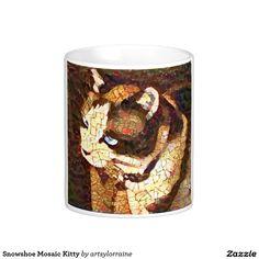 Snowshoe Mosaic Kitty Coffee Mug