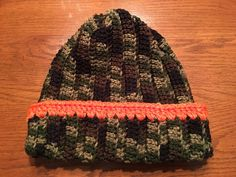 Your place to buy and sell all things handmade Camouflage, Ear Warmers, Shades Of Green, Beanie Hats, Hand Crochet, Stocking Stuffers, Knitted Hats, Hunting, Winter Hats