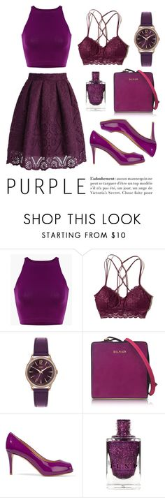 """""""Purple!!"""" by freakout3 ❤ liked on Polyvore featuring Hollister Co., Henry London, Balmain and Giuseppe Zanotti"""