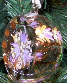 Blown Glass Half Moon Ornament Handpainted by TheMerchantOfEurope