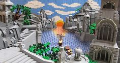 LEGO Forced Perspective Lord of the Rings Scene     http://www.flickr.com/photos/-infomaniac-/6842302670/