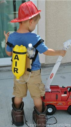 DIY Firefighter Air Tank from Crayon Box Chronicles