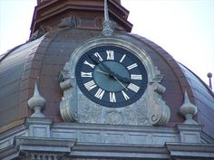 Fabulous clock tower on the top of the old Court House in Paris, Kentucky