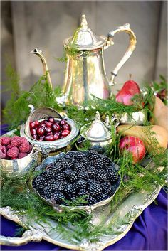 .Antique sterling silver and silver plate combined can make an arrangement like this. Beautiful.