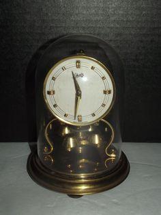 Vintage Kundo 400 Day Anniversary Clock With Key Germany