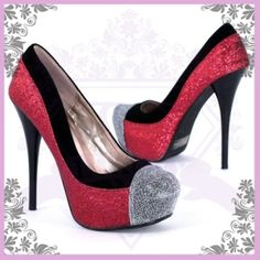 Love glittered pumps...