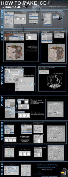 Cinema 4D - How To Make Ice by 100SeedlessPenguins.deviantart.com on @deviantART