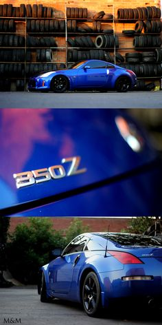Nissan 350z car photography downtown urban scene.