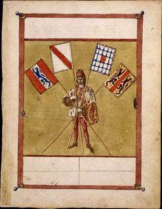Tournoi : affiche des juges diseurs, Traité de la forme et devis d'un tournoi, Livre des tournois (vers 1460, BNF)