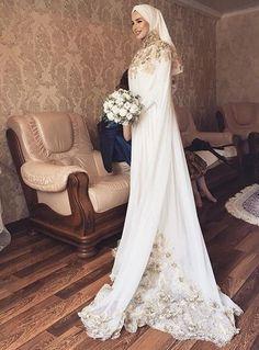 Hijab Wedding Hijab Wedding Source : by Muslim Wedding Gown, Wedding Abaya, Hijabi Wedding, Wedding Hijab Styles, Muslimah Wedding Dress, Muslim Wedding Dresses, Muslim Brides, Wedding Party Dresses, Bridal Dresses