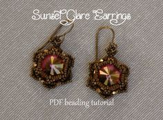 Beaded Earrings Tutorial  Sunset Glare by MilleGioiediSidonia, €4.50