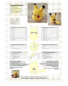 Amigurumi Pikachu free pattern super easy and so kawaii !! Amigurumi Pikachu : modèle gratuit au crochet super facile à réaliser et si mignon !! (U