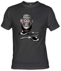 Camiseta Mr Potato Black Knight por Fernando Sala Soler - Fanisetas