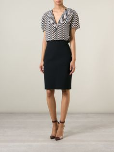Lanvin Zipped Pencil Skirt - Anita Hass - Farfetch.com