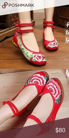 traditional chinese hand made shoes Brand new! so beautiful and comfortable! Shoes