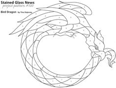 Dragon Stained Glass Patterns | pattern 100 image gallery free bird dragon sgn pattern 100