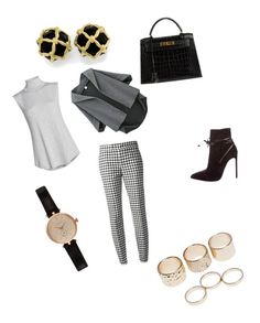 """""""Untitled #42"""" by lnjackson3284 ❤ liked on Polyvore featuring beauty, Yves Saint Laurent, RED Valentino, NIC+ZOE, Hermès, Barbour and Wet Seal"""