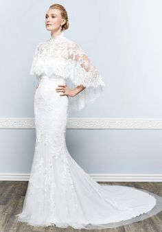 Lace sheath dress with optional lace jacket | Kenneth Winston | 1644 | http://knot.ly/64928HGPI