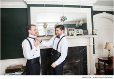 Groom and Bride's brother getting ready at a private residence