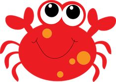 Cartoon Crab Clipart - Clipart Suggest Crab Clipart, Starfish Clipart, Beach Clipart, Summer Clipart, Juegos Baby Shower Niño, Cute Octopus, Free Clipart Images, Shark Party, Baby Shark