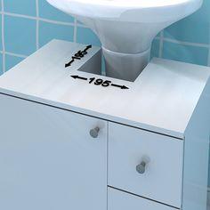 Gabinete para Banheiro com 1 Porta 3 Gavetas Branco   Politorno