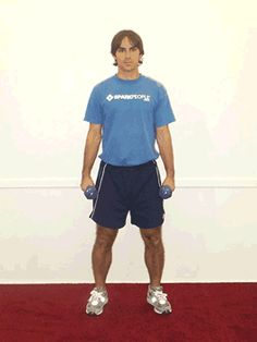 Today's Exercise: Dumbbell Side Bends - - Get rid of love handles with this!