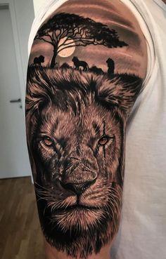 50 eye-catching lion tattoos that make you fancy ink - jaw-dropping lion . - 50 eye-catching lion tattoos that make you want to ink – jaw-dropping lion tattoo ideas © tattoo - Lion Shoulder Tattoo, Lion Arm Tattoo, Cat Tatto, Lion Head Tattoos, Mens Lion Tattoo, Lion Tattoo Design, Leo Tattoos, Lion Tattoos For Men, Bicep Tattoo Men