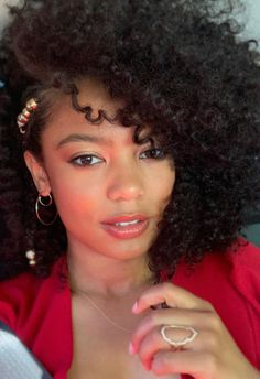 I got all dressed up❤️ Sabrina trailer drops tomorrow! It's gon get sexy up in here Jaz Sinclair, Curly Hair Styles, Natural Hair Styles, Golden Girls, Styling Tools, Great Hair, Hair Jewelry, Pretty People, Hair Inspiration
