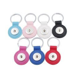 New Fashion 7 Color Snap Key Chain For Keyring Women Gifts Girl Keychain Bag Charm Pendant Fit 18/20mm Snap Button Jewelry ZH019