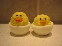deviled eggs--chicks