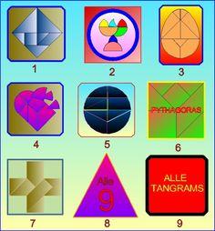 Puzzelen met ronde en vierkante tangrams - Introductie