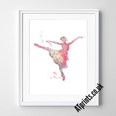 BALLERINA Watercolour Art Print